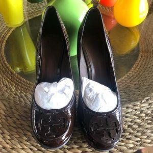 Dark Brown Round Toe Tory Burch Heels